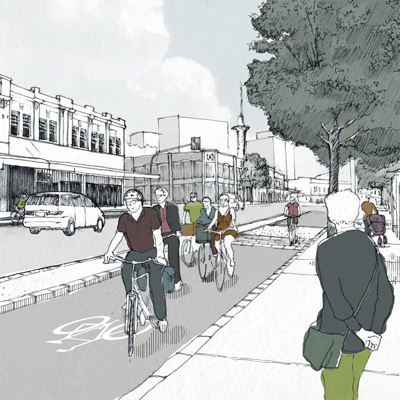 Visualising Auckland's Future Walking and Cycling Infrastructure